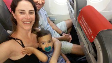 El primer viaje en avión de Alfonso