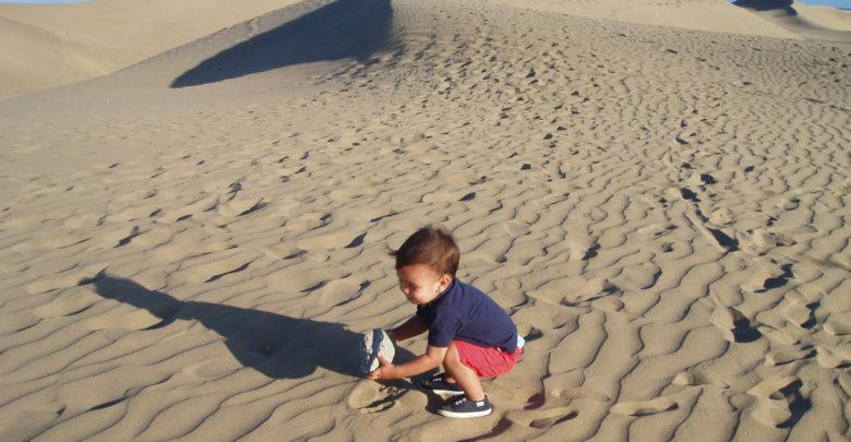 Alfonso en las Dunas de Maspalomas