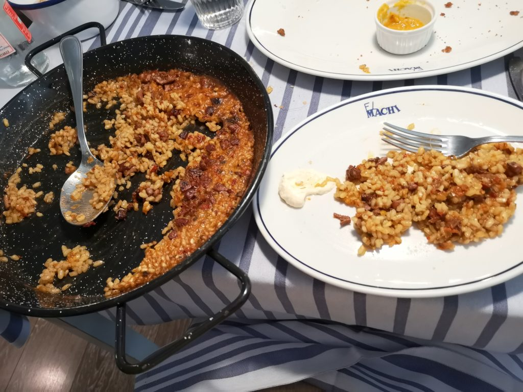 El riquísimo arroz a banda de El Machi... ¡espectacular!